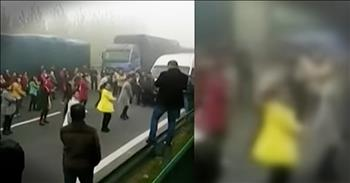Traffic Jam Leads To Dance In The Street