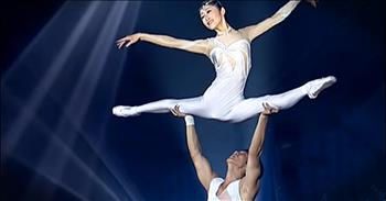 Acrobatic Ballet Performance Showcases Talent And Skill