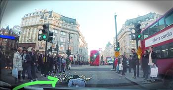 Dashcam Catches Strangers Helping A Fallen Man