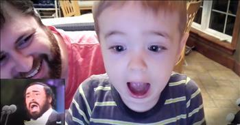 Adorable Toddler Sings Along To Opera Music