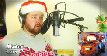 1 Man Sings Christmas Songs In Disney Character's Voices
