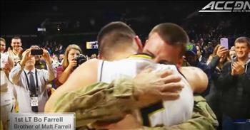 Basketball Player Cries When Hero Brother Comes Home