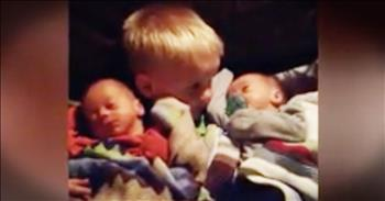 Big Brother Doesn't Want To Let Go Of Baby Twins