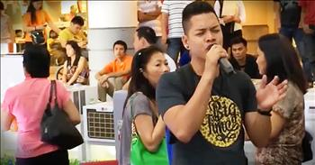 Amateur Singer With 2 'Voices' Sings 'The Prayer'