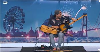 Musician Playing 3 Guitars At Once Stuns The Judges With His Unique Audition