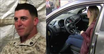 Community Surprises Marine Widow Who Lost Husband In Afghanistan