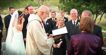 Couple Steps Aside At Wedding for Their Parents' Surprise Vow Renewal