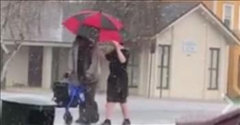 Elderly Man Caught In Hailstorm Aided By Teen