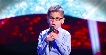 Inspiring Young Singer Born Blind Wows With The National Anthem