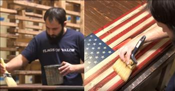 Veterans Create Beautiful American Flag Art As A Dedication To Those Who Serve