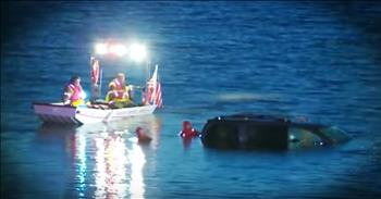 Paramedic Sees A Carseat In A Sinking Car And Refuses To Give Up
