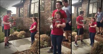 Adorably Cheesy Prom-posal Put The Biggest Smile On Everyone's Faces