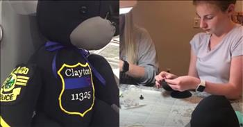 Dedicated Teen Makes Teddy Bears For The Grieving Out Of Uniforms Of Fallen Officers