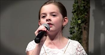 Young Girl Praises The Lord With Easter 'Hallelujah'