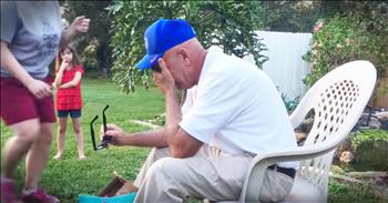 Family Helps Grandpa See Color For First Time In 66 Years