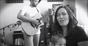 Family Sings Acoustic Rendition Of 'The Old Rugged Cross'