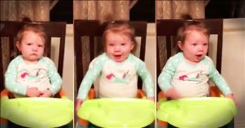 Little Girl Is Grumpy She Hears Her Favorite Song