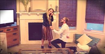 Husband Finally Proposes To Wife Of 10 Years