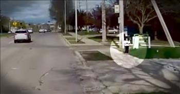 Hero Bus Driver Saves Little Girl Alone On Busy Street