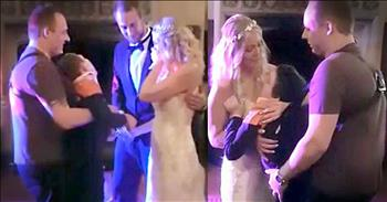 Bride And Son With Cerebral Palsy Dance On Wedding Day
