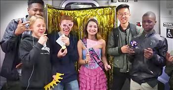 Surprise Sweet Sixteen Birthday On The Subway