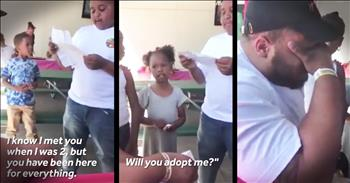 Boy Asks Step-Dad To Adopt Him And Everyone Cries