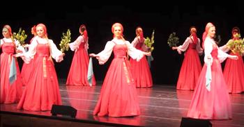 Russian Folk Dancers Appear To Be Floating