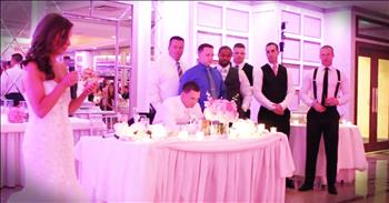 Bride's Toast Honors Bravery Of Police Officers