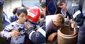 Hero Boy Rescues Toddler Trapped In Pipe