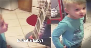 Kid Has Honest Response To Mom's Pregnancy