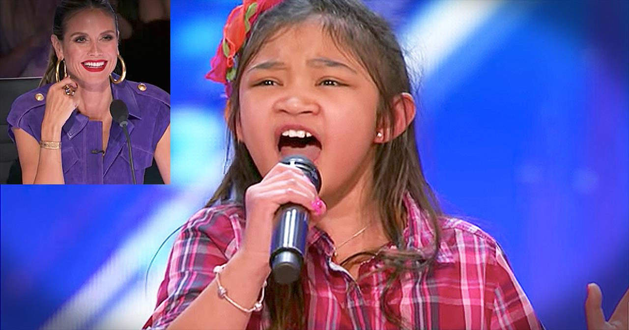 9-Year-Old Girl With Big Voice Sings 'Rise Up' Audition - Cute Videos