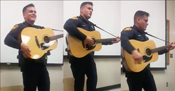 Police Officer With Incredible Voice Sings 'Folsom Prison Blues'