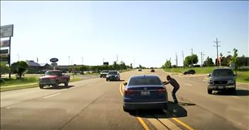 Hero Man Saves Seizure Victim In Moving Car