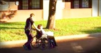 Police Officer Pushes Woman Home In Wheelchair