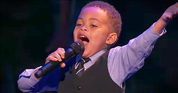 Little Worshipper Sings 'This Little Light Of Mine'