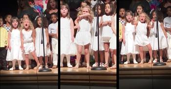 Little Girl's Singing Steals The Show