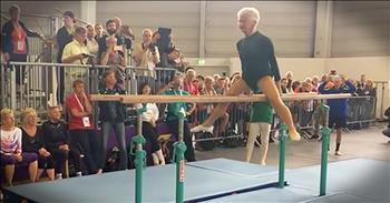 91-Year-Old Gymnast Still Competes