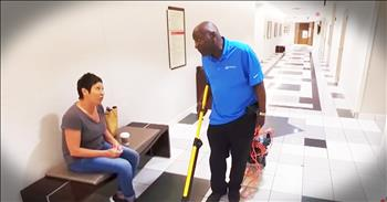 Singing Janitor Spreads Smiles