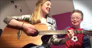 Girl Sings For Brother With Down Syndrome