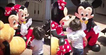 Minnie Mouse Signs 'I Love You' To Deaf Boy