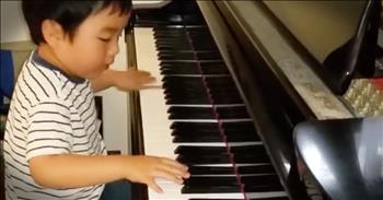 4-Year-Old Piano Prodigy Shares Talent