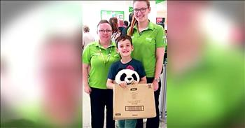 Grocery Store Act Of Kindness For Boy