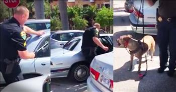 Heroic Officer Saves Dog Trapped In A Hot Car