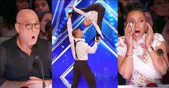Father And Son Acrobat Routine Impresses Judges