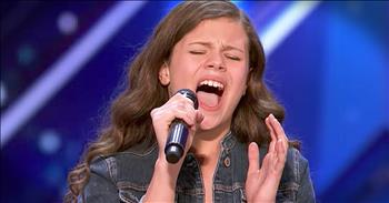 13-Year-Old 'I'll Stand By You' Audition Earns Golden Buzzer