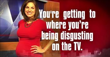 Pregnant TV Anchor Responds When Viewer Calls Her 'Disgusting'