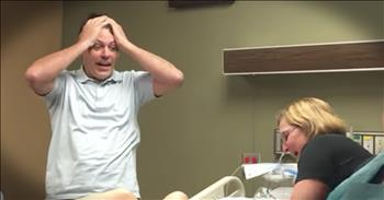 Dad Reacts To Baby Boy Birth After 3 Girls