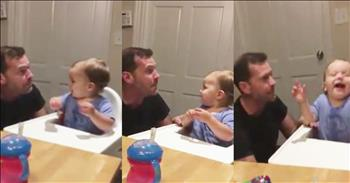 Baby Loves When Dad Beatboxes