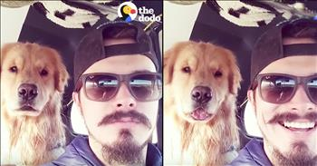 Funny Dog Copies Owner's Facial Expressions