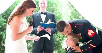4-Year-Old Cries At New Mom's Vows To Him